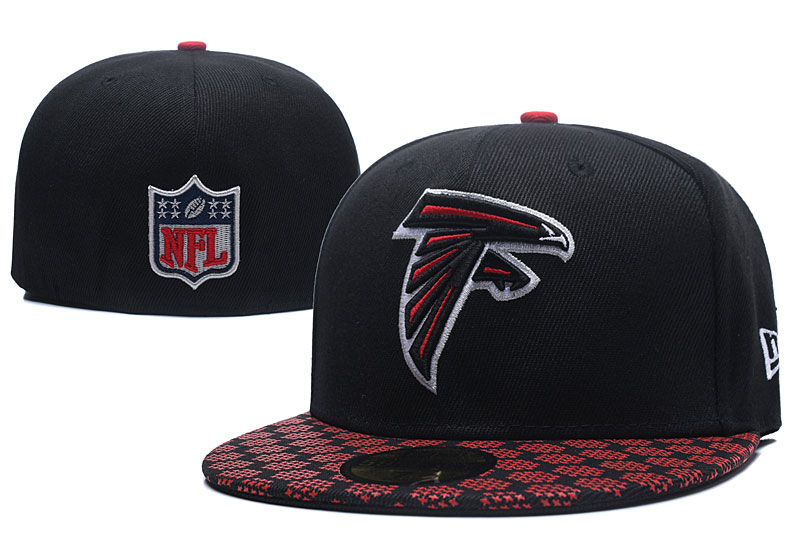 Falcons Team Logo Black Fitted Hat LX