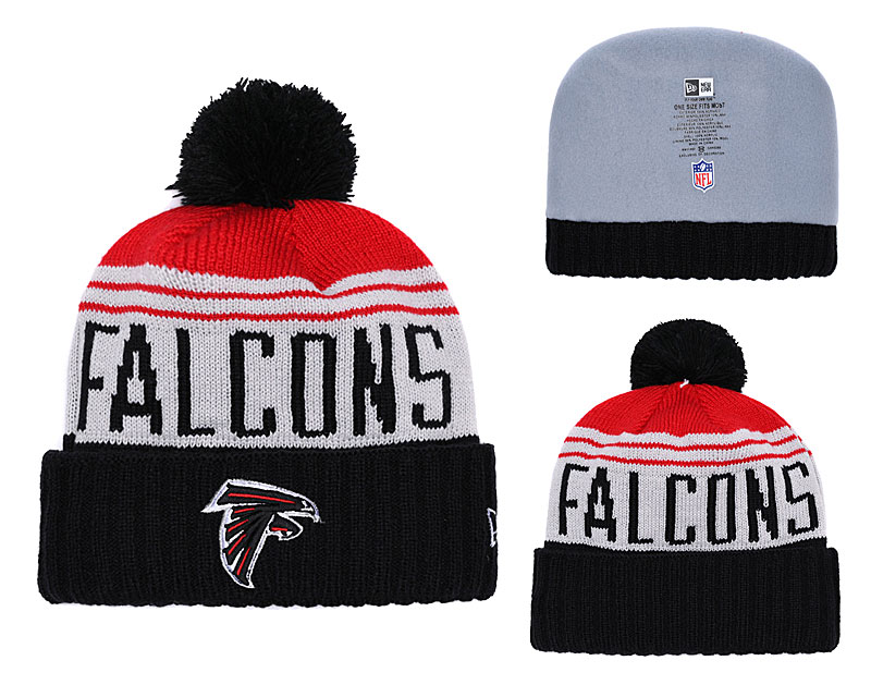 Falcons Team Logo Black Knit Hat YD