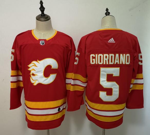 Flames 5 Mark Giordano Adidas Jersey