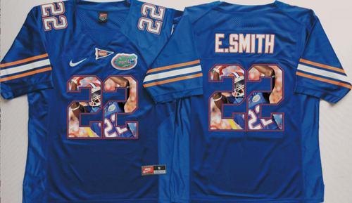 Gators #22 Emmitt Smith Blue Player Fashion Stitched NCAA Jersey