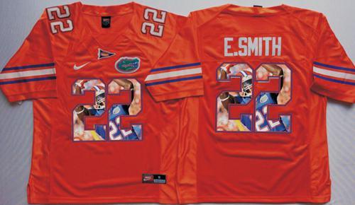 Gators #22 Emmitt Smith Orange Player Fashion Stitched NCAA Jersey