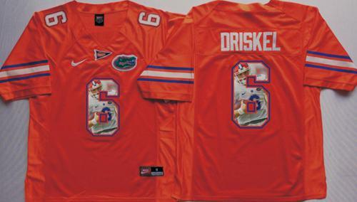 Gators #6 Jeff Driskel Orange Player Fashion Stitched NCAA Jersey