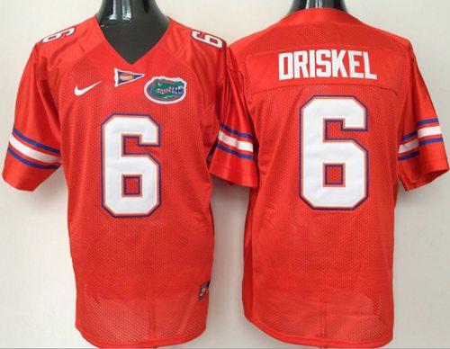 Gators #6 Jeff Driskel Orange Stitched NCAA Jersey