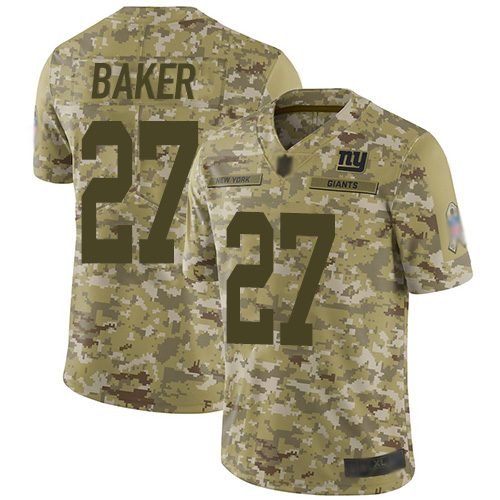 Giants #27 Deandre Baker Camo Men's Stitched Football Limited 2018 Salute To Service Jersey