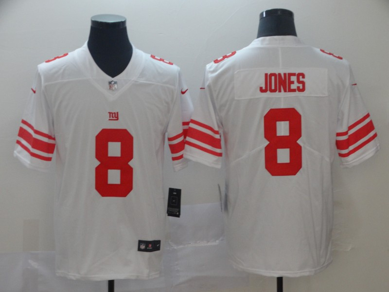 Giants 8 Daniel Jones White 2019 NFL Draft First Round Pick Vapor Untouchable Limited Jersey