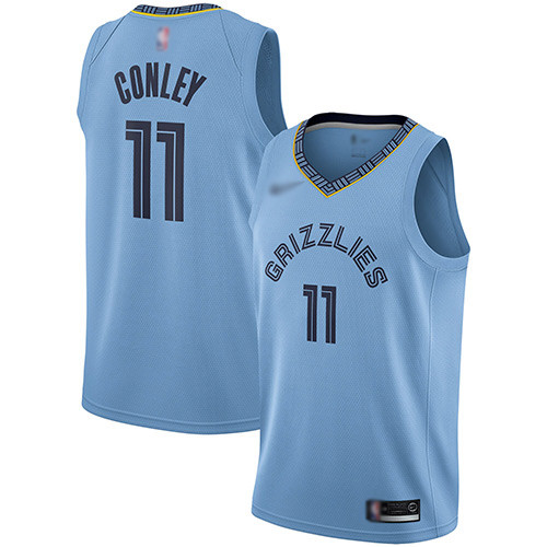 Grizzlies #11 Mike Conley Light Blue Basketball Swingman Statement Edition Jersey
