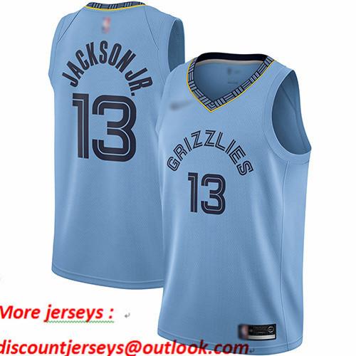 Grizzlies #13 Jaren Jackson Jr. Light Blue Basketball Swingman Statement Edition Jersey