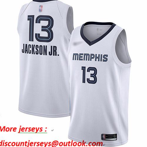 Grizzlies #13 Jaren Jackson Jr. White Basketball Swingman Association Edition Jersey