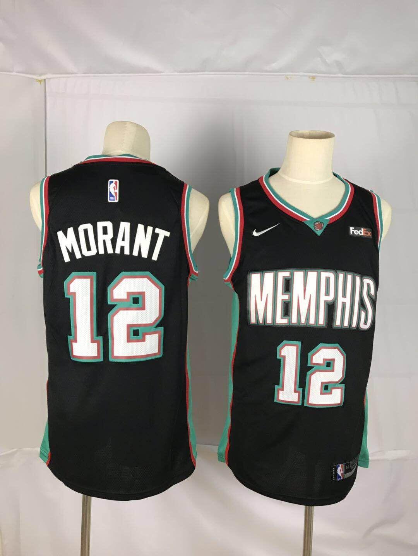 Grizzlies 12 Ja Morant Black Nike Swingman Jersey