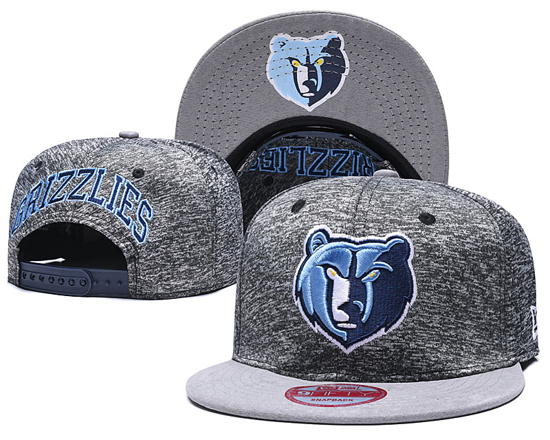 Grizzlies Team Logo Gray Adjustable Hat TX