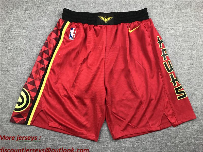 Hawks Red Nike Shorts