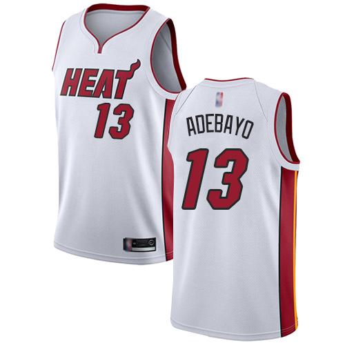 Heat #13 Bam Adebayo White Basketball Swingman Association Edition Jersey