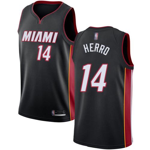 Heat #14 Tyler Herro Black Basketball Swingman Icon Edition Jersey