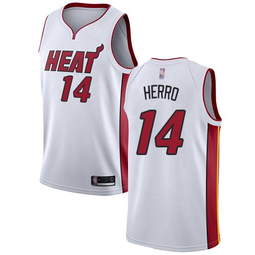 Heat #14 Tyler Herro White Basketball Swingman Association Edition Jersey