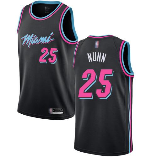 Heat #25 Kendrick Nunn Black Basketball Swingman City Edition 2018 19 Jersey