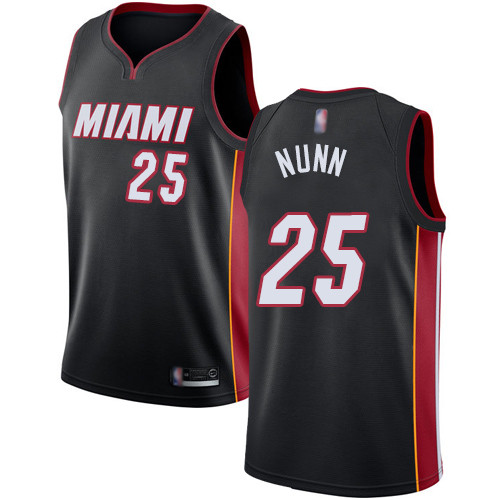Heat #25 Kendrick Nunn Black Basketball Swingman Icon Edition Jersey