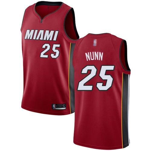 Heat #25 Kendrick Nunn Red Basketball Swingman Statement Edition Jersey