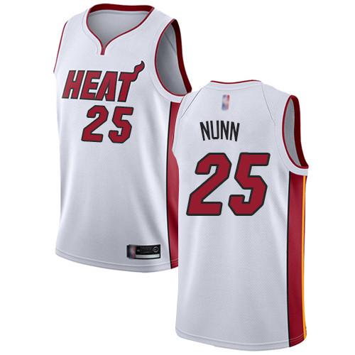 Heat #25 Kendrick Nunn White Basketball Swingman Association Edition Jersey