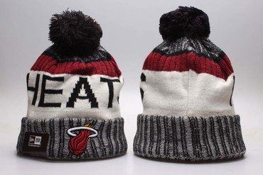 Heat Fresh Logo Black Sport Pom Cuffed Knit Hat YP