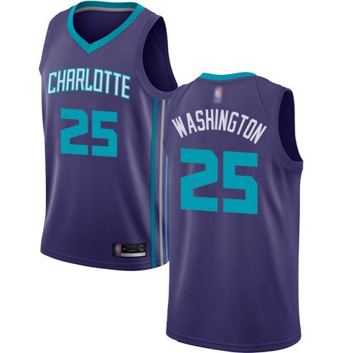 Hornets #25 PJ Washington Purple Basketball Jordan Swingman Statement Edition Jersey