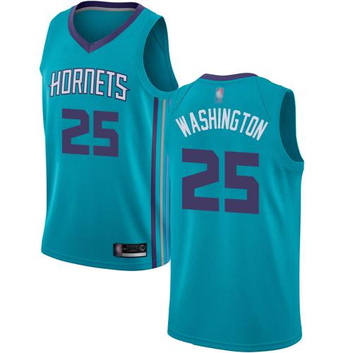 Hornets #25 PJ Washington Teal Basketball Jordan Swingman Icon Edition Jersey
