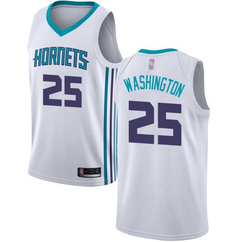 Hornets #25 PJ Washington White Basketball Jordan Swingman Association Edition Jersey
