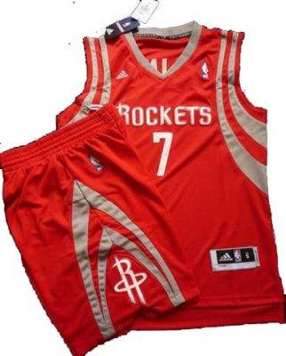 Houston Rockets 7# Jeremy Lin Red Revolution 30 Swingman NBA Jersey & Shorts Suit