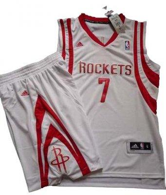 Houston Rockets 7# Jeremy Lin White Revolution 30 Swingman NBA Jersey & Shorts Suit