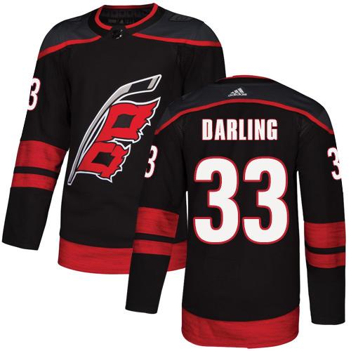 Hurricanes #33 Scott Darling Black Alternate Authentic Stitched Hockey Jersey