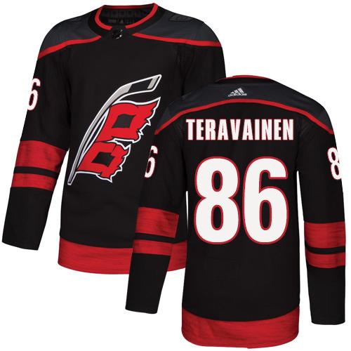 Hurricanes #86 Teuvo Teravainen Black Alternate Authentic Stitched Hockey Jersey