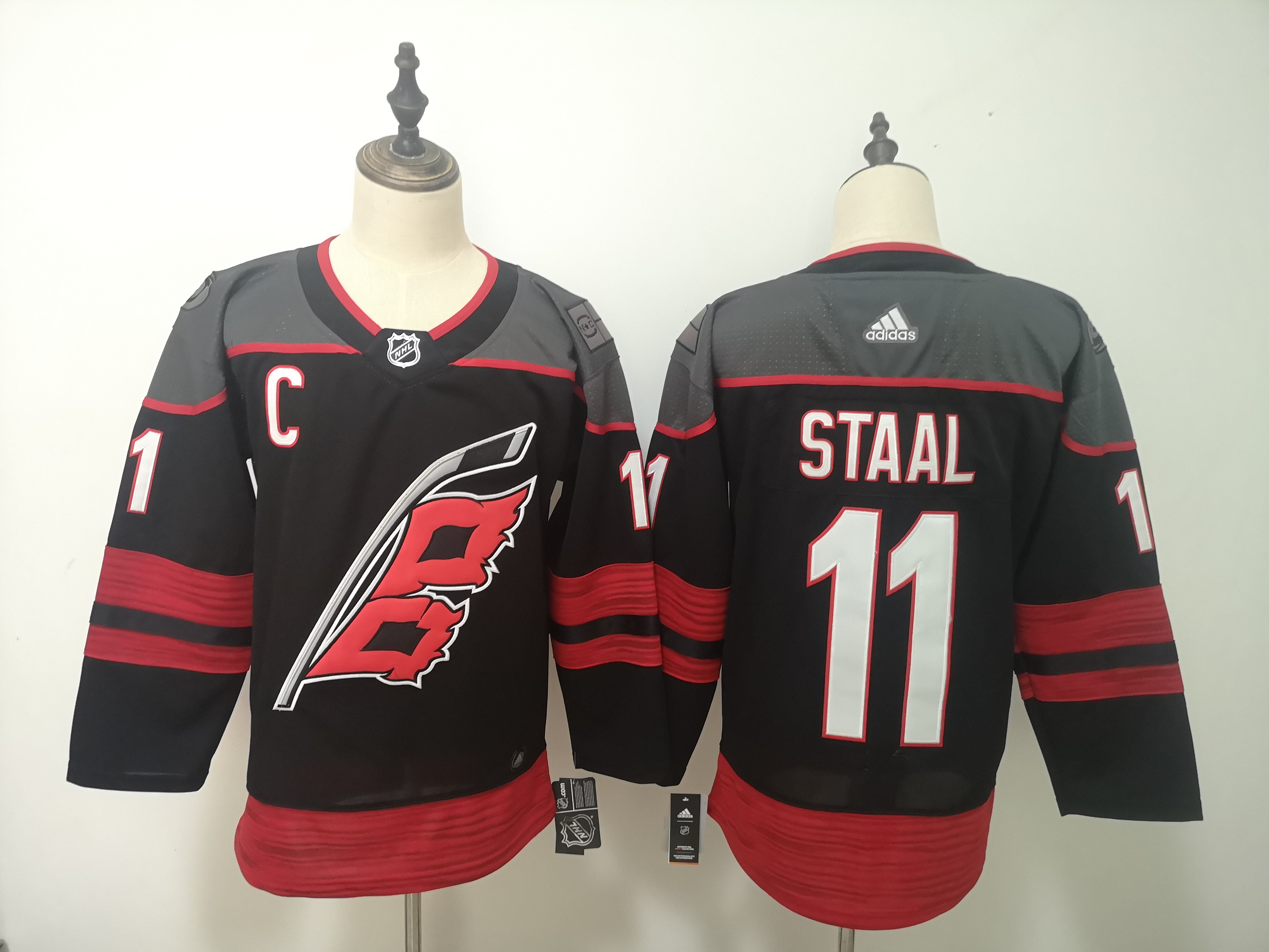 Hurricanes 11 Jordan Staal Black Adidas Jersey