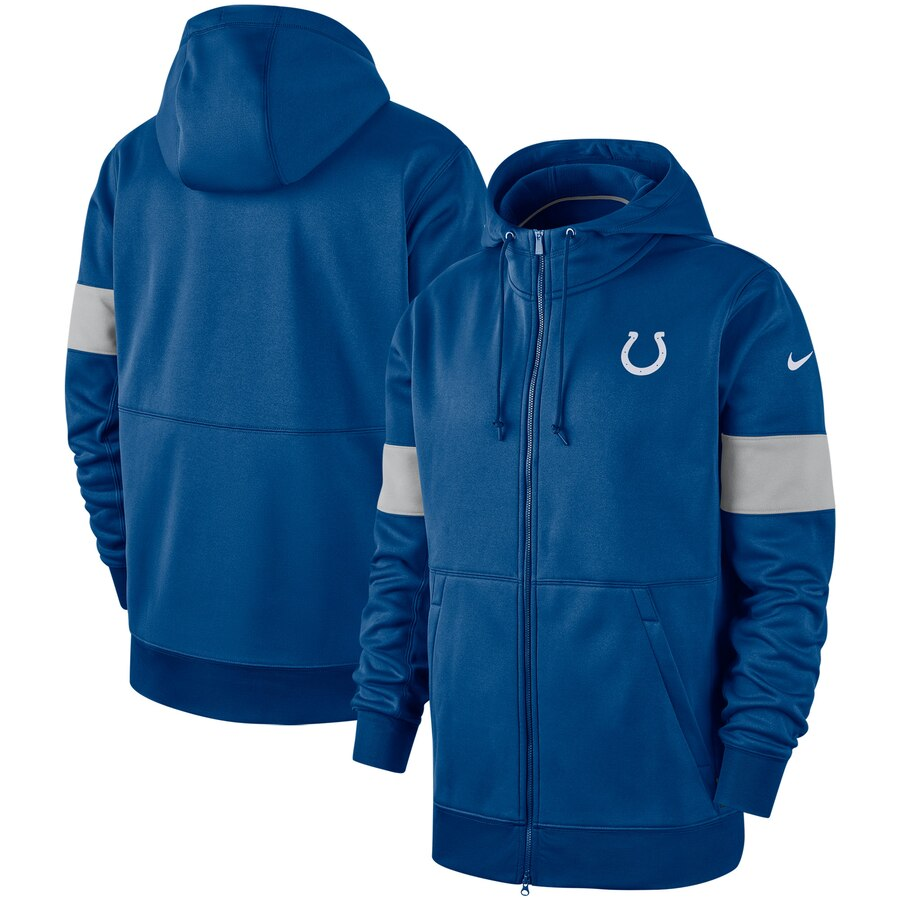 Indianapolis Colts Nike Sideline Performance Full Zip Hoodie Royal