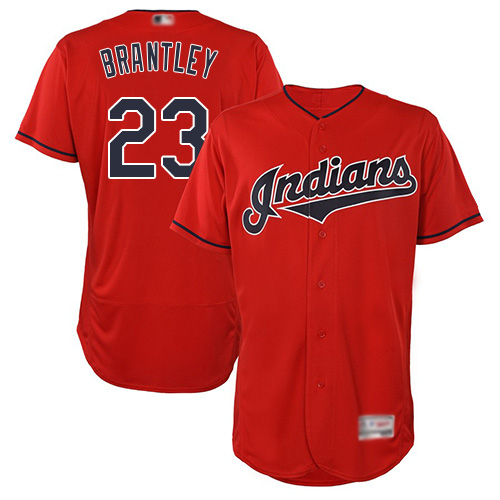 Indians #23 Michael Brantley Red Flexbase Authentic Collection Stitched Baseball Jersey