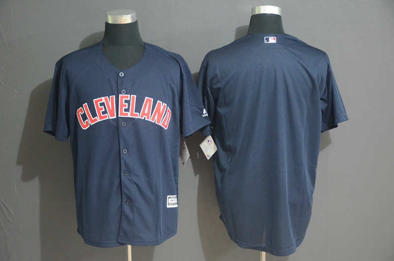 Indians Blank Navy Cool Base Jersey