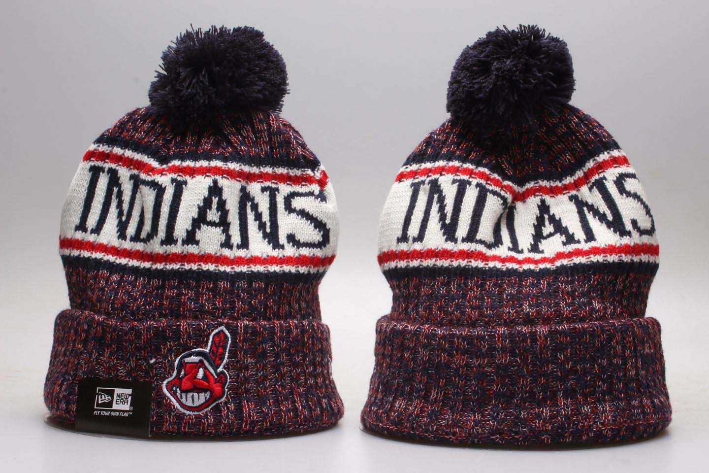 Indians Fresh Logo Red Knit Hat YP