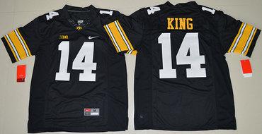 Iowa Hawkeyes 14 Desmond King Black College Football Jersey