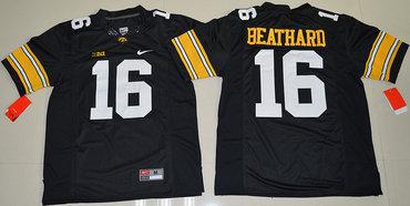 Iowa Hawkeyes 16 C.J. Beathard Black College Football Jersey