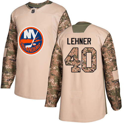 Islanders #40 Robin Lehner Camo Authentic 2017 Veterans Day Stitched Hockey Jersey