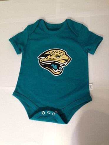 Jacksonville Jaguars Newborn Creeper Set - Teal