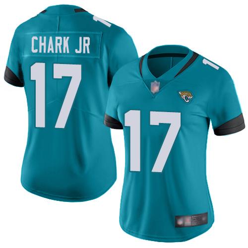 Jaguars #17 DJ Chark Jr Teal Green Alternate Women's Stitched Football Vapor Untouchable Limited Jersey