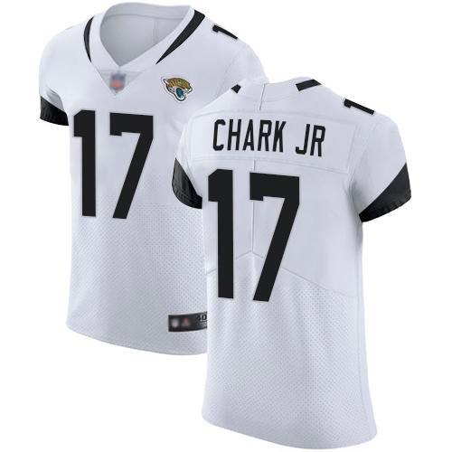 Jaguars #17 DJ Chark Jr White Men's Stitched Football Vapor Untouchable Elite Jersey