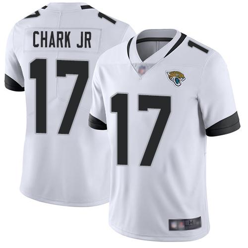 Jaguars #17 DJ Chark Jr White Men's Stitched Football Vapor Untouchable Limited Jersey