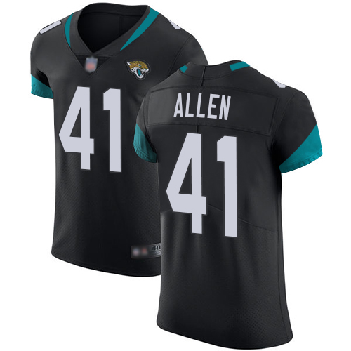 Jaguars #41 Josh Allen Black Team Color Men's Stitched Football Vapor Untouchable Elite Jersey