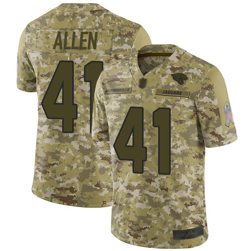 Jaguars #41 Josh Allen Camo Men's Stitched Football Limited 2018 Salute To Service Jersey