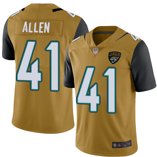 Jaguars #41 Josh Allen Gold Men's Stitched Football Limited Rush Jersey