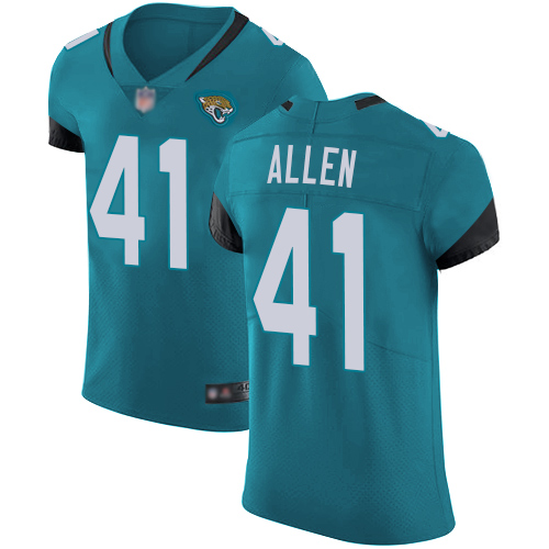 Jaguars #41 Josh Allen Teal Green Alternate Men's Stitched Football Vapor Untouchable Elite Jersey