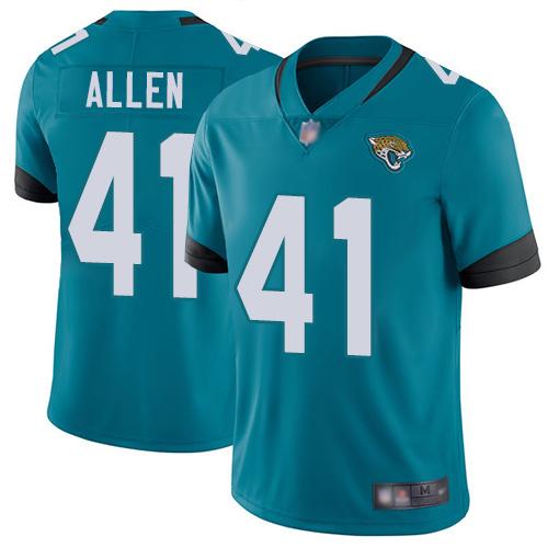 Jaguars #41 Josh Allen Teal Green Alternate Men's Stitched Football Vapor Untouchable Limited Jersey