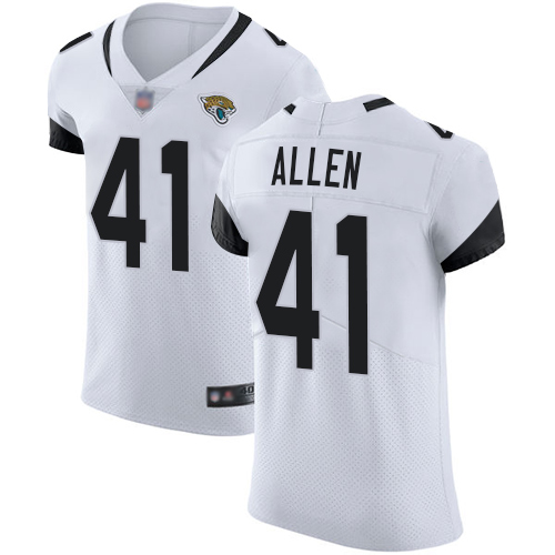 Jaguars #41 Josh Allen White Men's Stitched Football Vapor Untouchable Elite Jersey