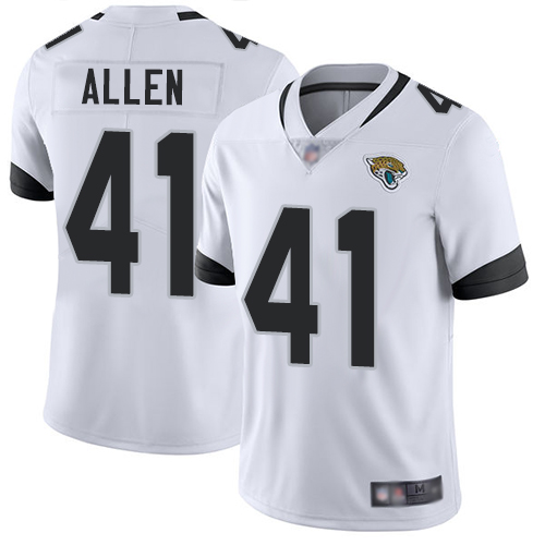 Jaguars #41 Josh Allen White Men's Stitched Football Vapor Untouchable Limited Jersey