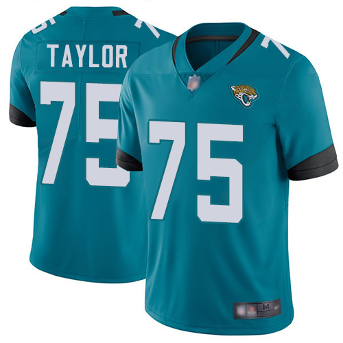 Jaguars #75 Jawaan Taylor Teal Green Alternate Men's Stitched Football Vapor Untouchable Limited Jersey